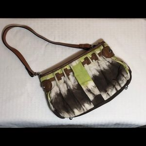 Etienne small tie dyed bag with leather trim